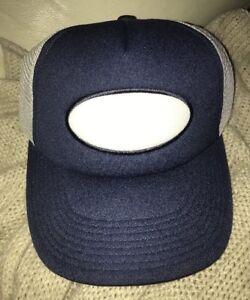 1c499d630e0 TRUCKER STYLE SNAPBACK HAT NAVY BLUE WHITE DICKIES  SAMPLE RUSTY ...