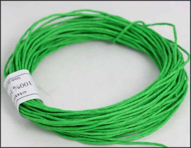 Hemp Cord  - Twine 100% Smooth Finish      Hemp twine       10 Metre x 1MM Thick