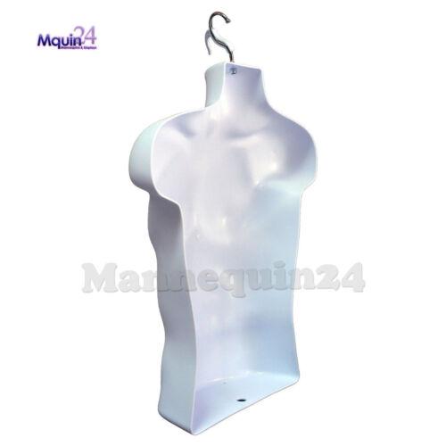 MEN/'S DRESS BODY FORM MANNEQUIN 10 Stands 10 Hooks 10 Male