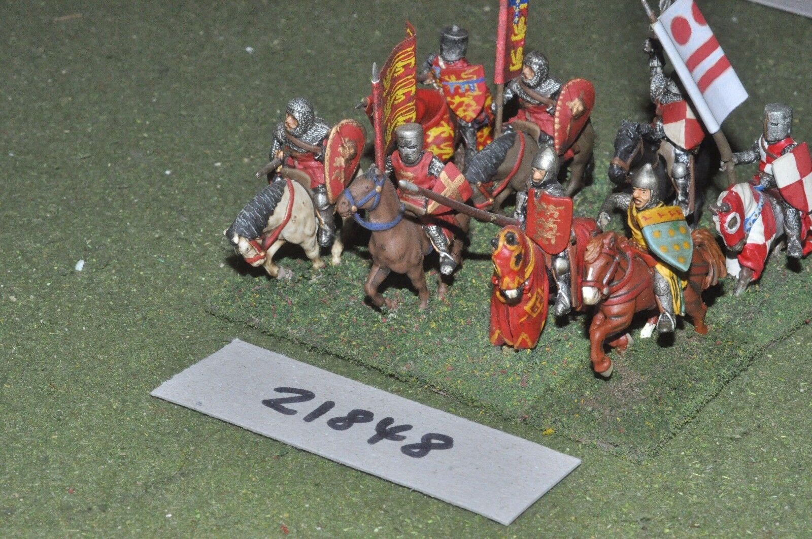 25mm medieval   english - men at arms 8 figs cavalry - cav (21848)
