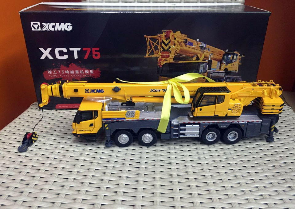 XCMG XCT75T mobile heavy CRANE metal Camion Échelle 1 50 Die-Cast Model