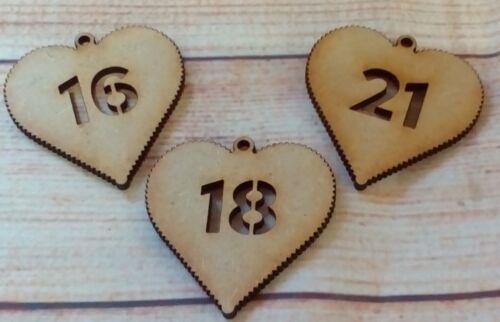 tout âge Âge Heart Craft Blank 3.2 mm 50 mm x 50 mm MDF