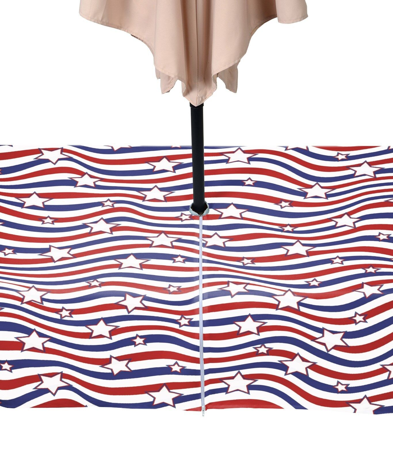 American Stars & Stripes Outdoor Waterproof Tablecloths w zipper& Umbrella Umbrella Umbrella Hole 5332c4