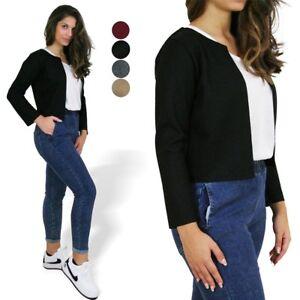 timeless design 383ee b037f Dettagli su Coprispalle donna giacca bolero giacchetta elegante basic  manica lunga nuovo