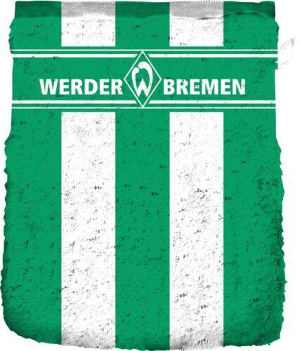 """SV Werder Bremen Waschhandschuh /""""Blockstreifen/"""" 16x21cm Fanartikel"""