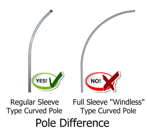 POLE MOUNT KIT Tall Feather Swooper Banner Sign FOR LEASE SUPER FLUTTER FLAG