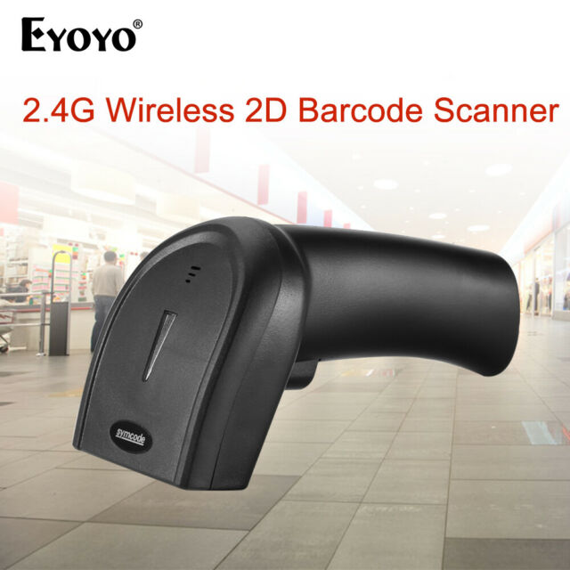 Eyoyo 2.4G Dongle Wireless & Wired 1D 2D QR Barcode Scanner for Laptop Desktop