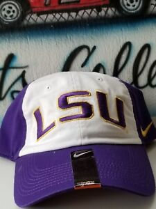 LSU Tigers Hat Adjustable NCAA Distressed Park Cap