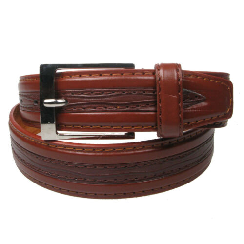"""New Genuine Pattern Leather Lined Trouser Belt 1 1//4/"""" wide sizes 28/""""-44/"""" LH1002"""