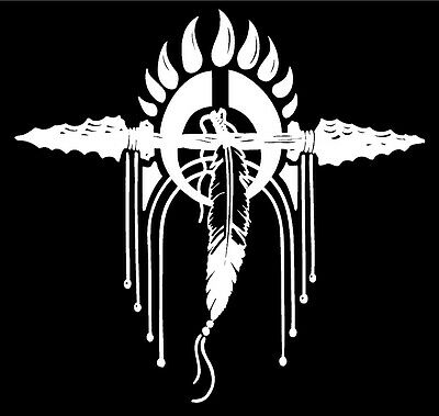 Feathers Decals southwestern native american style truck window vinyl sticker