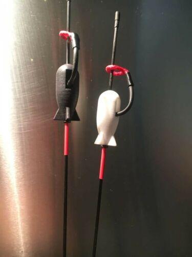 2 x Custom Monkey Climbers with Carbon shafts carp fishing bobbin indicator