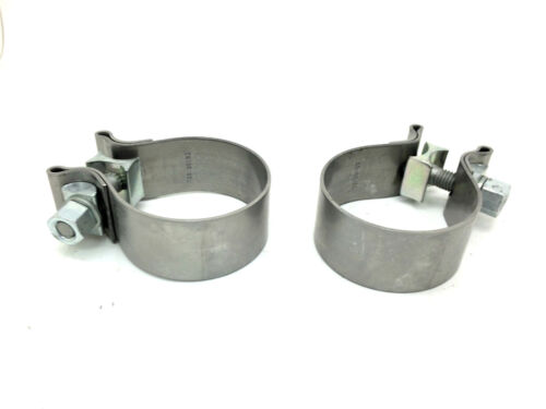 Pair of New Genuine Porsche 987 Boxster Cayman Exhaust Tailpipe T Piece Clamps