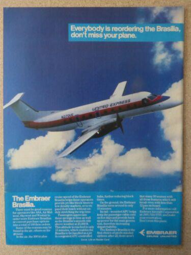 8//1988 PUB AVION EMBRAER EMB-120 BRASILIA TURBOPROP UNITED EXPRESS N270UE AD