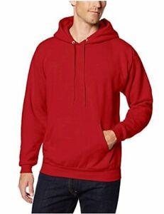 Hanes-Men-039-s-Pullover-EcoSmart-Fleece-Hoodie-Deep-Red-Deep-Red-Size-Large