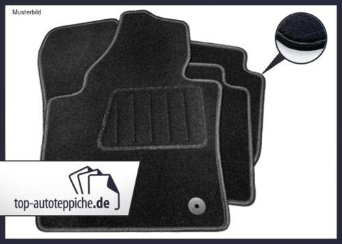 91-95 100/% passform Fussmatten Autoteppiche Schwarz Audi A80 Cabrio Typ 89 Bj