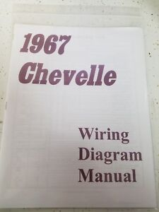 details about new 1967 chevy chevelle wiring diagram manual ****free shipping**** 1966 Chevelle Ignition Wiring Diagram