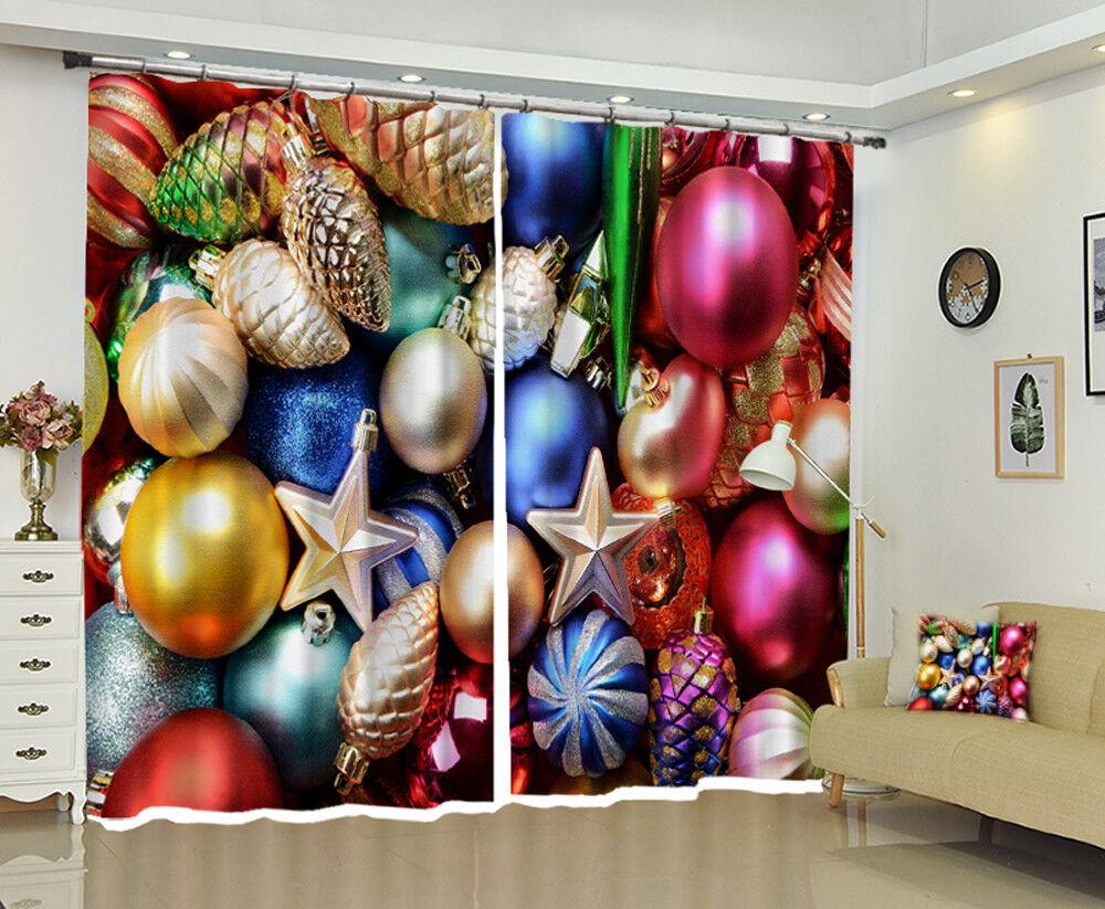 3d navidad XMIN 126 bloqueo foto cortina cortina de impresión ventana de tela de