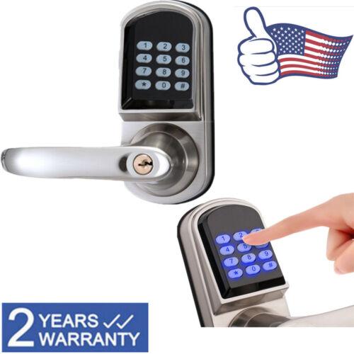 Smart Digital Electronic Door Lock Code Password Keyless Keypad Security Lock