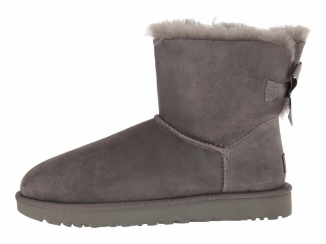 edb8b96752a UGG Australia Mini Bailey Bow II Grey Womens BOOTS 9