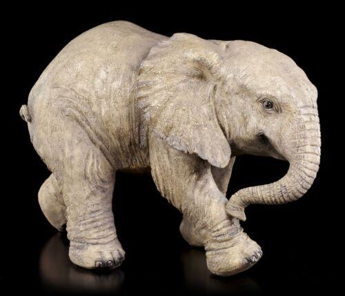 Elefant Gartenfigur Deko Skulptur Statue Baby Garten Figur