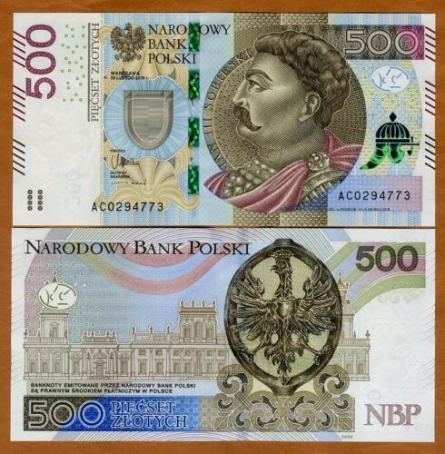 P-New 2016 500 Zlotych Poland UNC