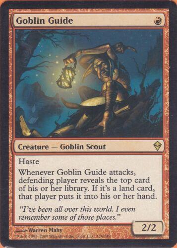 Zendikar EN Goblin-Wegefinder Goblin Guide NM//EX Magic: The Gathering