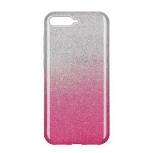 Dettagli su COVER Custodia Glitter GRADIENTE Morbida Silicone GEL per Huawei Y6 2018 Rosa