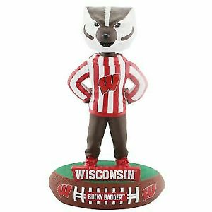 2015 Wisconsin Badgers Bucky Badger NCAA Mascot Limited Edition Bobblehead Racquet & Paddle Sports