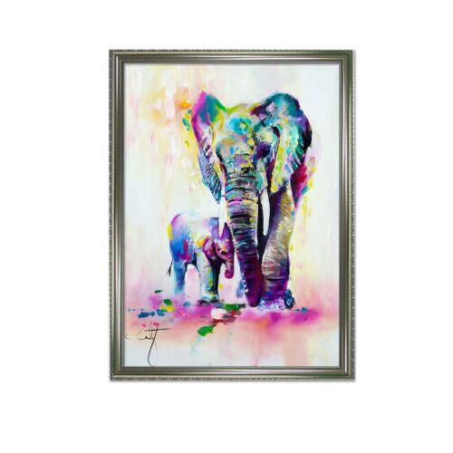 Details about  /3D Elephant Pattern 47 Framed Poster Home Decor Print Painting Art AJ AU