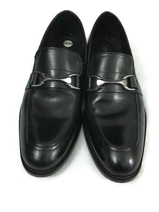Stacy Adams bit Men's Dress Shoes Leather Black Horse bit Adams Size 8.5M Oxford 98d8b4