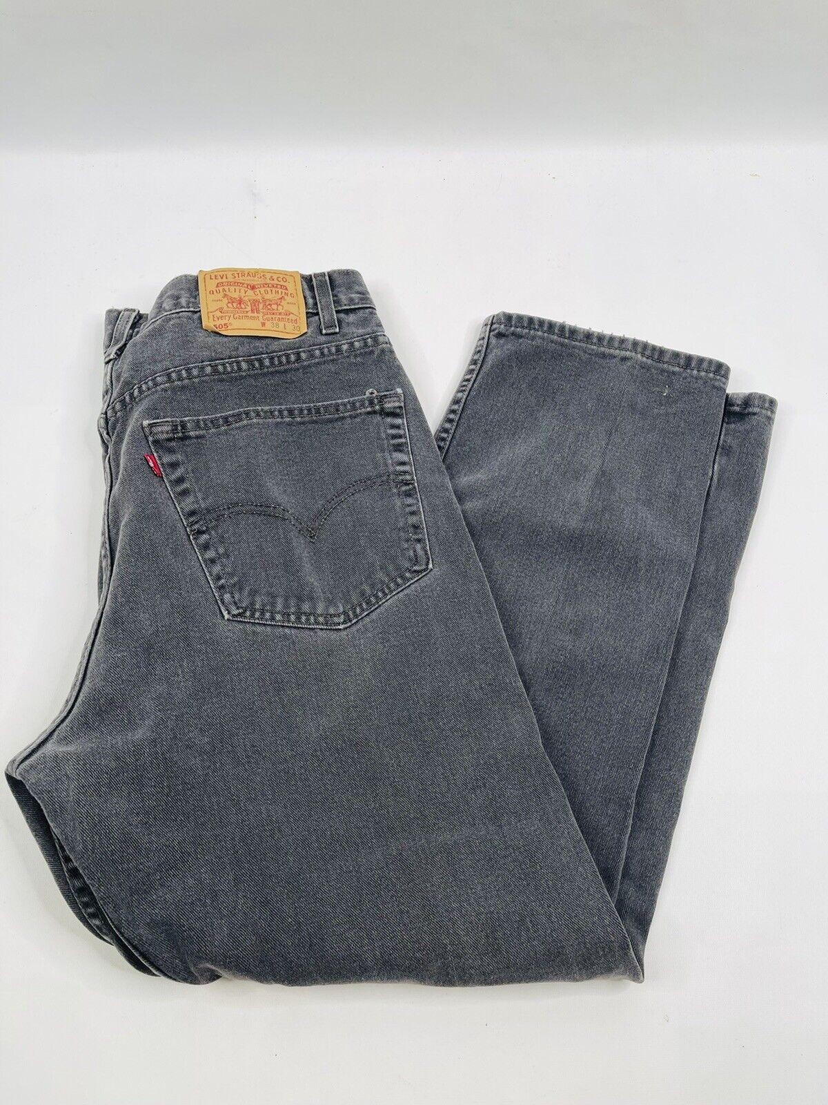 Vintage 90s Levis 505 Regular Fit Straight Leg Fa… - image 3