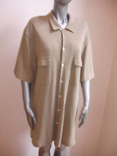 POLO RALPH LAUREN WOMENS TOP SHIRT BUTTON DOWN size XXL BEIGE COTTON STUNNING