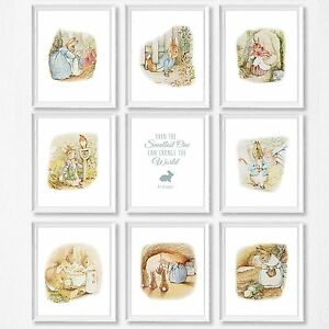Details About Peter Rabbit Nursery Decor Kids Bedroom Wall Prints
