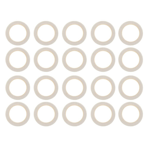 40pcs Natural Wood Circle Ring Wooden Rings for Craft Unfinished Making Findings