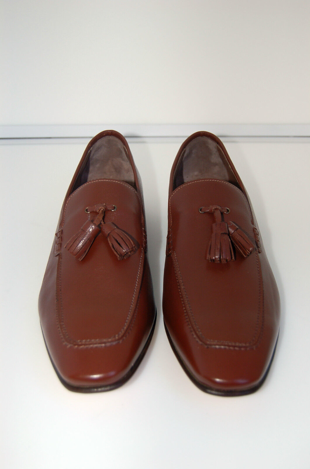 MAN - 45 - 11eu -PENNY LOAFER - BROWN CALF- VITELLO MARRONE -LTH SOLE-F.DO CUOIO