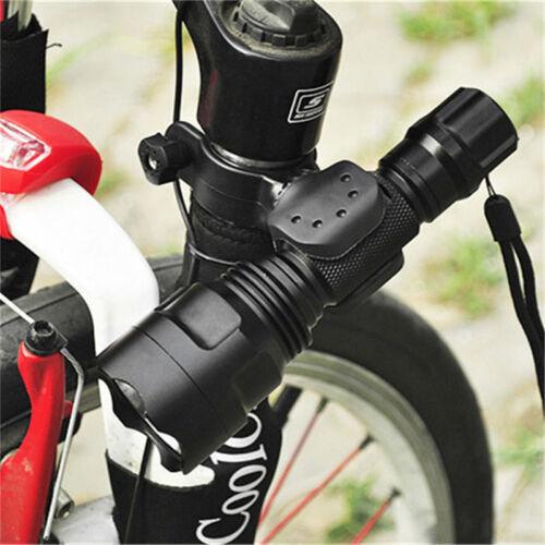 Cycling Bicycle Bike Led Flashlight Holder Front light Mount Clip TorchBracket】