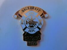 PIN'S  POMPIERS  USA  / BLACKDRAFT  /  CHICAGO  1990   /  SUPERBE