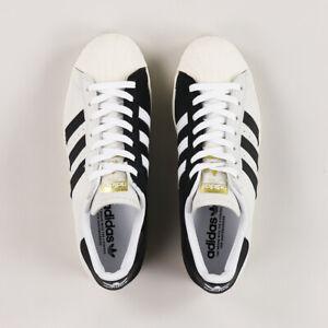 Adidas-Skateboarding-Superstar-ADV-blanc-homme-or-noir-Sport-Taille-UK-6-12