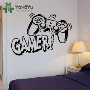 Details about Gamer Wall Sticker Teenagers Bedroom Decoration Gaming Art  Decal