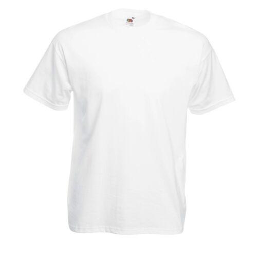 5XL weis 5 x Herren Fruit of the loom T-Shirts 5er Set Valueweight T Mann S