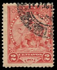 """PARAGUAY 94 (Mi89) - Sentinel Lion at Rest """"Dated 1904"""" (pa25426) CDS"""