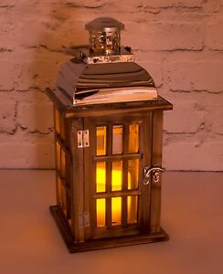 Image Is Loading Garden Flickering Candle Lantern Outdoor Indoor Chrome And