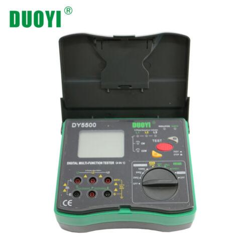 DY5500 4in1 Digital Multimeter Resistance Tester Ground Insulation Voltmeter