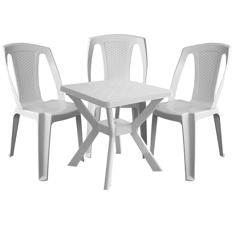 Bistro salon plastique table de jardin 70x70cm pile 3x pile 70x70cm ...