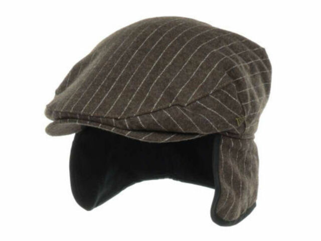 e0f4803790a New Era EK Collection Earflap Gatsby Hat Cap Gray Brown Striped Ivy Driver L