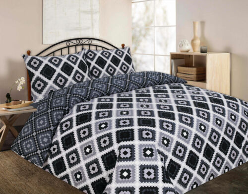 Printed Theo Duvet Quilt Cover Set Size Single Double King Super Pillow case
