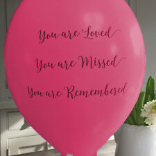 10 Bright Pink Remembrance Balloons for Release - Funeral, Celebration of Life