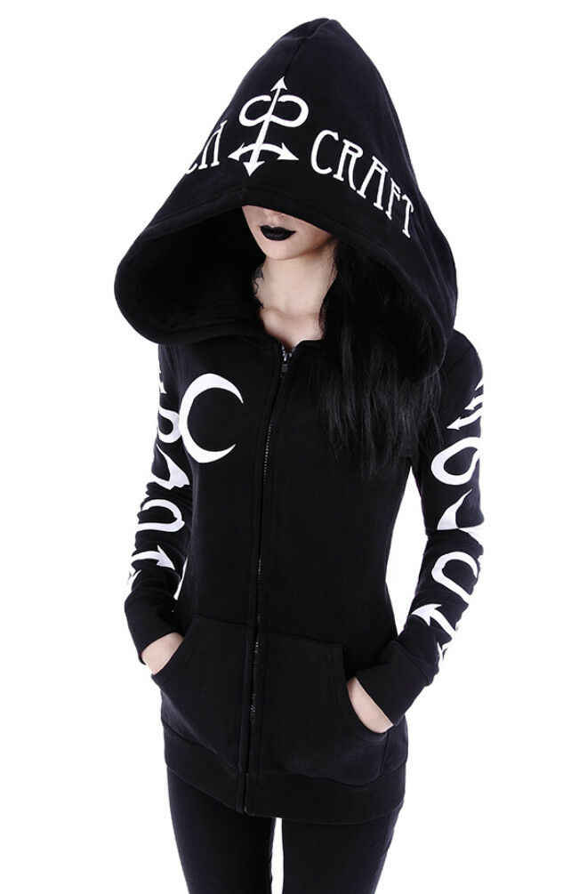 Restyle Restyle Restyle Witchcraft Occult Wicca Symbol Nugoth Punk Gothic Warm Jersey Hoodie Top 639e0b