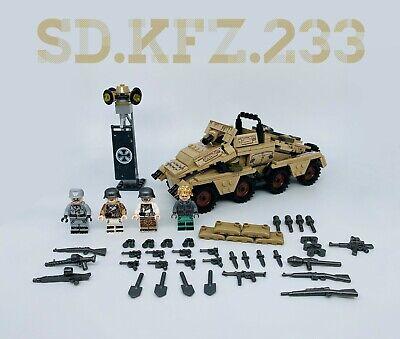 WW2 German SD.KFZ.233 /& Soldiers Minifigures Custom Set.