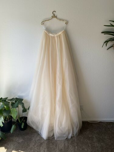 Wedding Champagne Tulle Skirt, Sz Large
